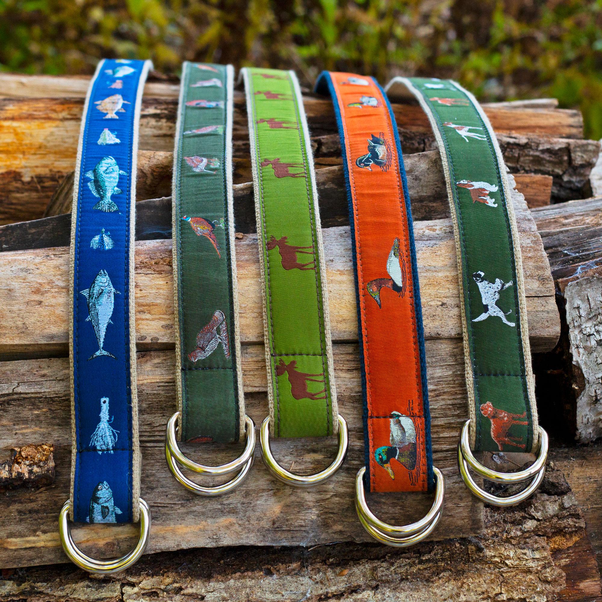 D-Ring Belts on log