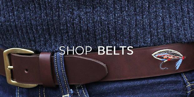 Embroidered Leather Belts