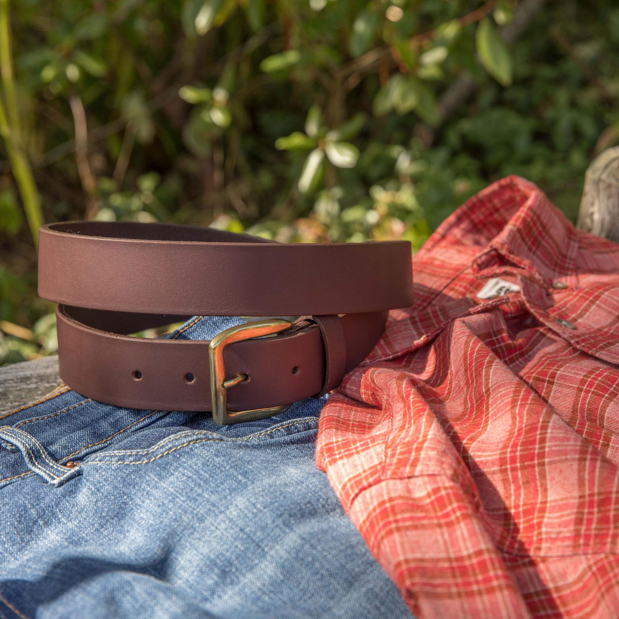 Leather Belt on Rocks