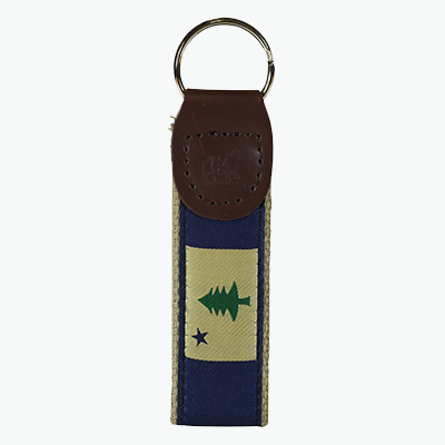 Maine Flag Key Fob Belted Cow Company